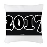 2017 License Plate Woven Throw Pillow