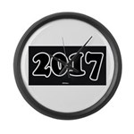 2017 License Plate Large Wall Clock