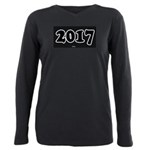 2017 License Plate Plus Size Long Sleeve Tee