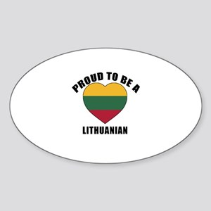 Lithuanian Patriotic Designs Sticker (Oval)