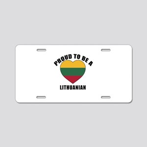 Lithuanian Patriotic Design Aluminum License Plate