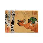 Foxes 4 Global Domination (Oblong Magnet)