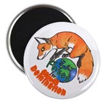 """Foxes 4 Global Domination (2.25"""" Magnet)"""