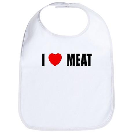 I Love Meat Bib