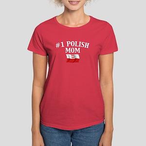 #1 Polish Mom Women's Dark T-Shirt