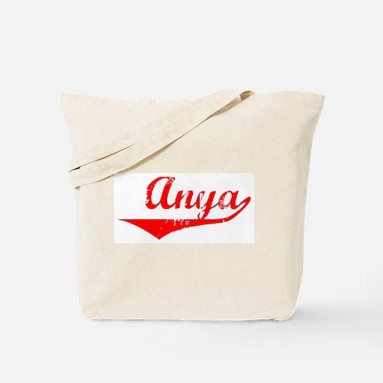 Anya Vintage (Red) Tote Bag
