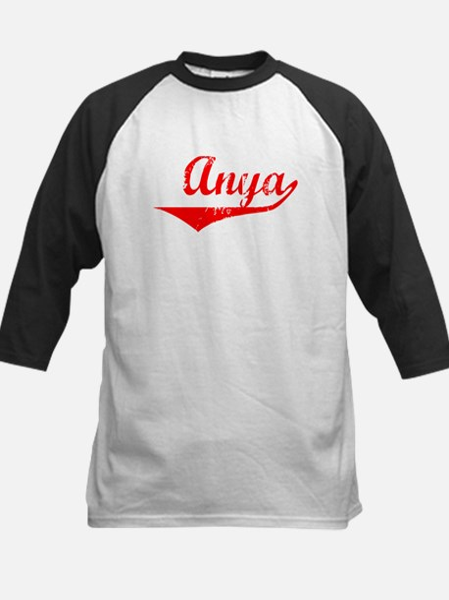 Anya Vintage (Red) Kids Baseball Jersey