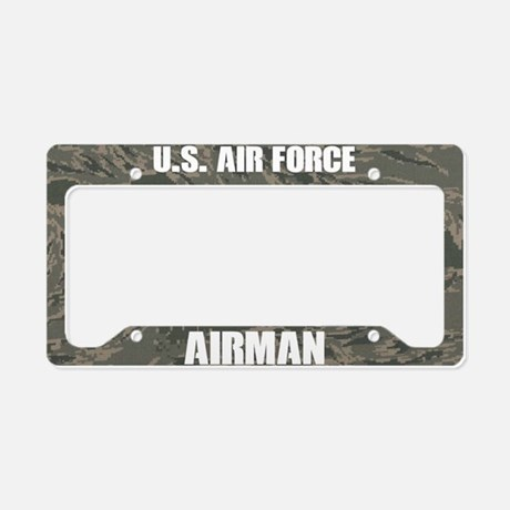 U.S. Air Force Airman Camo License Plate Frame License Plate Frame