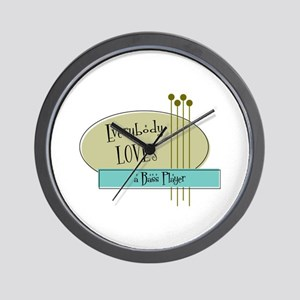 Everybody Loves a Bass Player Wall Clock