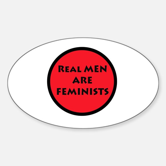 Real Men Are Feminists RED Decal