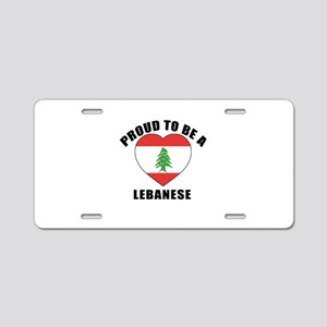 Lebanese Patriotic Designs Aluminum License Plate