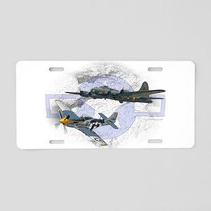 P51 Mustang Aluminum License Plate