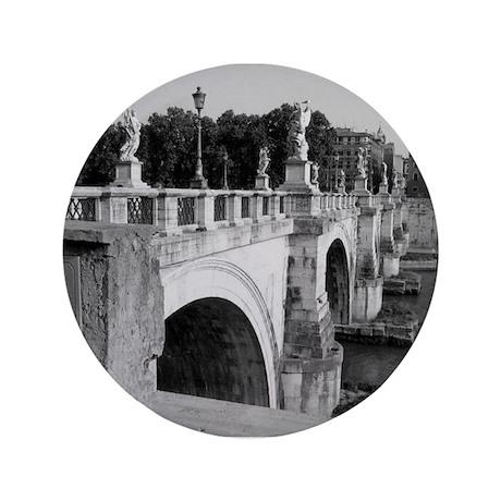 """Pont Sant'Angelo, Rome 3.5"""" Button"""