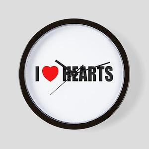 I Love Hearts Wall Clock