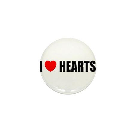 I Love Hearts Mini Button