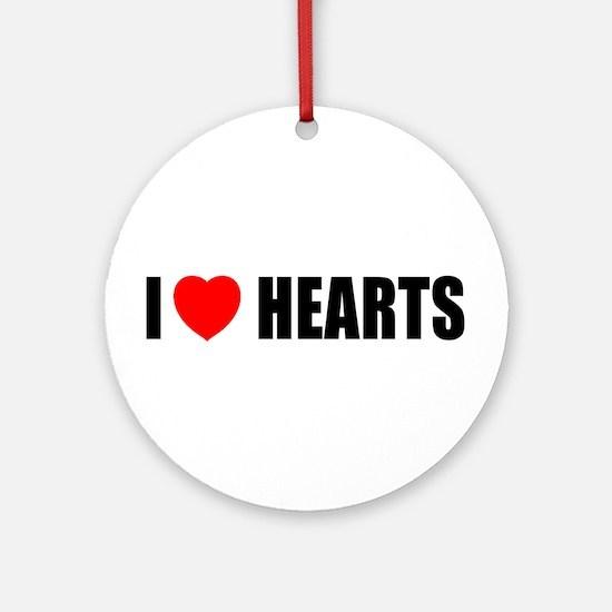 I Love Hearts Ornament (Round)