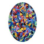 Fine Art Abstract Oval Ornament