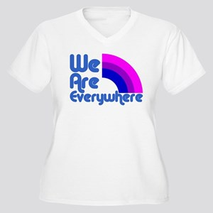 we_are_everywhere_bi Plus Size T-Shirt