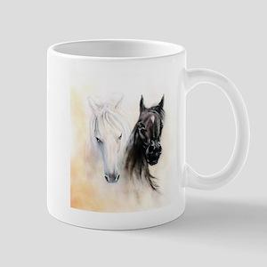 Horses Canvas Painting Mug