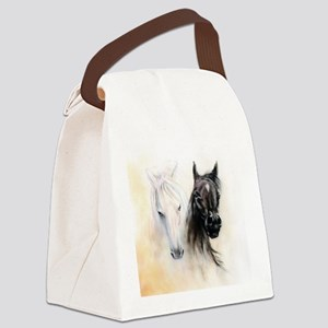 Horses Canvas Painting Canvas Lunch Bag