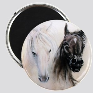 Horses Canvas Painting Magnet