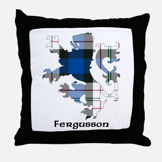 Lion-Fergusson dress Throw Pillow
