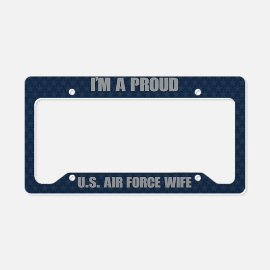 U.S. Air Force Wife License Plate Holder