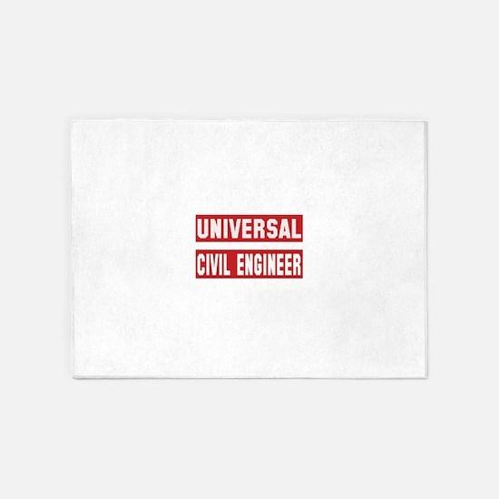 Universal Civil engineer 5'x7'Area Rug