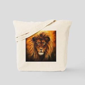 Lion Canvas Painting Tote Bag