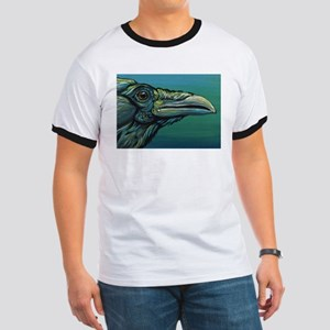 Rainbow Raven Crow Bird WildlifeArt T-Shirt
