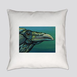Rainbow Raven Crow Bird WildlifeArt Everyday Pillo