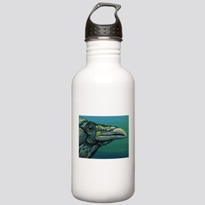 Rainbow Raven Crow Bird WildlifeArt Water Bottle