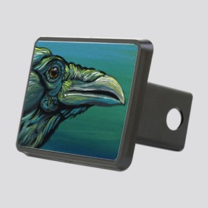 Rainbow Raven Crow Bird WildlifeArt Rectangular Hi