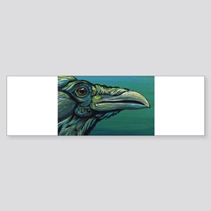 Rainbow Raven Crow Bird WildlifeArt Bumper Sticker