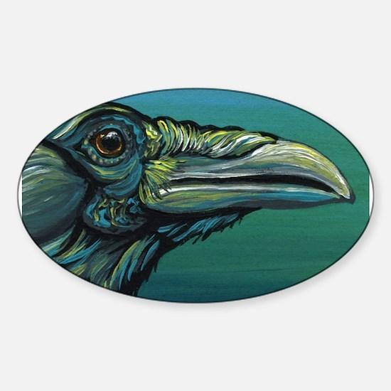 Rainbow Raven Crow Bird WildlifeArt Decal
