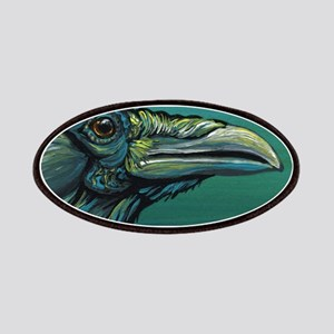 Rainbow Raven Crow Bird WildlifeArt Patch