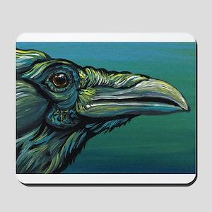 Rainbow Raven Crow Bird WildlifeArt Mousepad