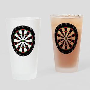 dart board Drinking Glass