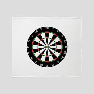 dart board Throw Blanket