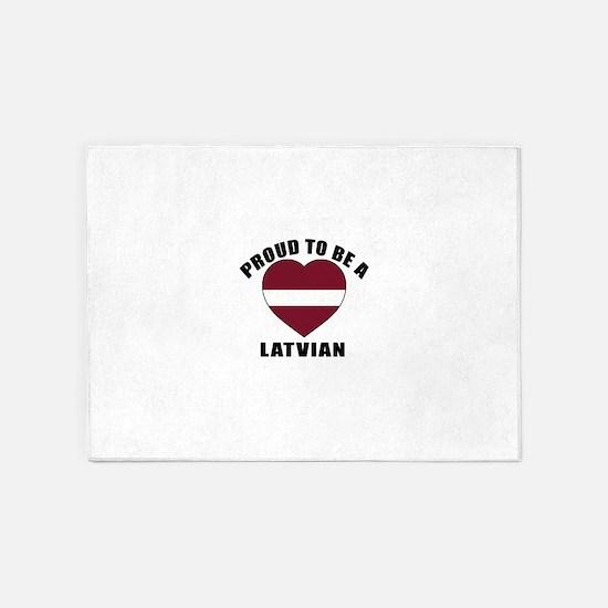 Latvian Patriotic Designs 5'x7'Area Rug