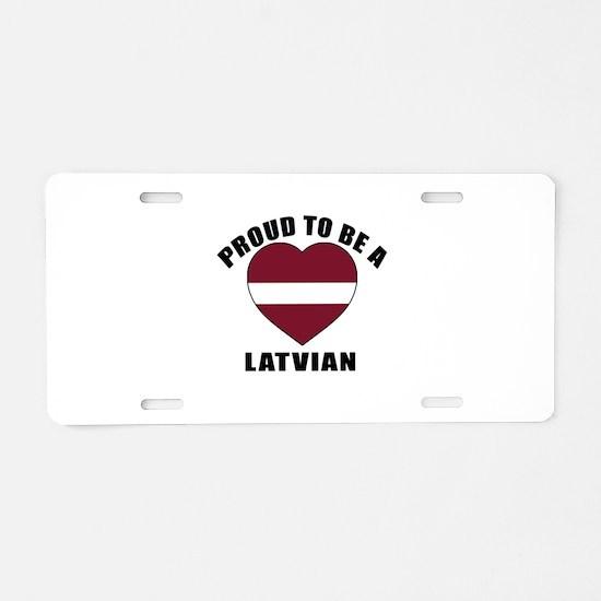 Latvian Patriotic Designs Aluminum License Plate