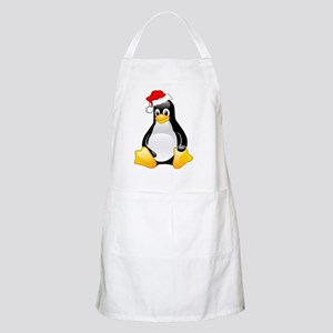 Tux The Penguin Wearing Santa Hat Apron
