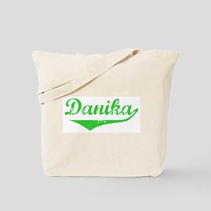 Danika Vintage (Green) Tote Bag