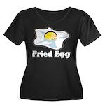 Fried Eg Women's Plus Size Scoop Neck Dark T-Shirt