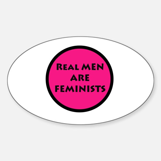 Real Men Are Feminists PINK Decal