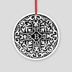 Letter B Monogram Ornament (Round)