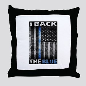 I Back The Blue Throw Pillow