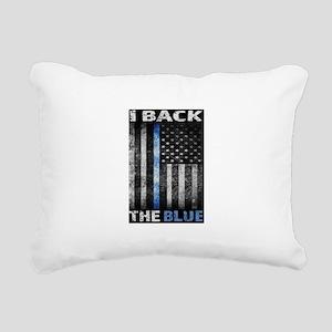 I Back The Blue Rectangular Canvas Pillow
