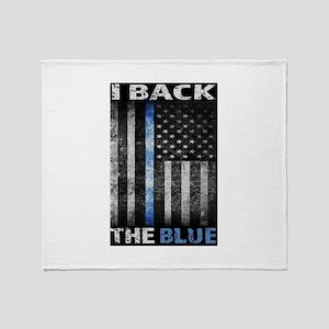 I Back The Blue Throw Blanket