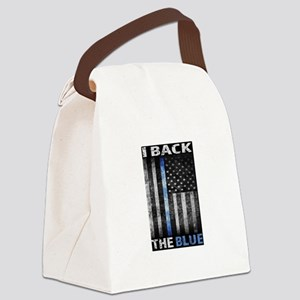 I Back The Blue Canvas Lunch Bag